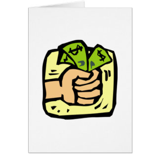 Money Grab Stationery Note Card