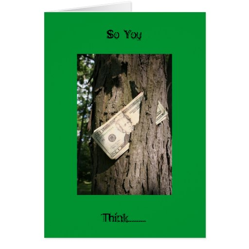 Money Grows On Trees Card