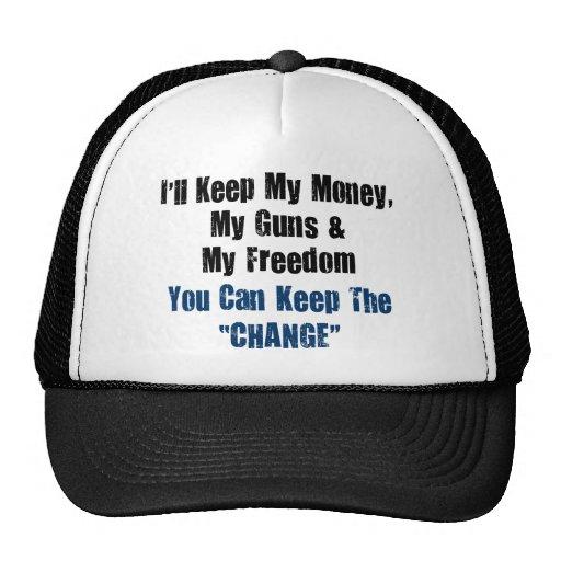 Money, Guns and Freedom Trucker Hats