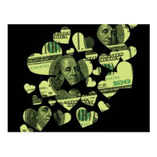 Money Hearts Postcard