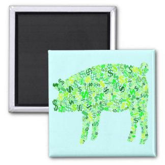 Money Hog 2 Inch Square Magnet