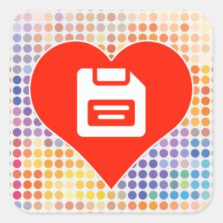 Money Icon Square Sticker