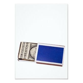 Money in matchbox card