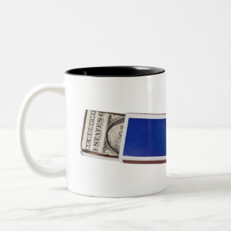 Money in matchbox Two-Tone coffee mug