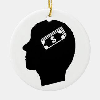 Money in Mind Ceramic Ornament