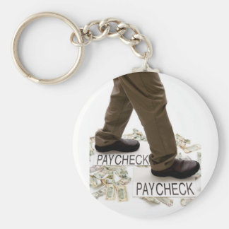 Money In, Money Out, Living Paycheck to Paycheck Keychain