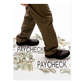 Money In, Money Out, Living Paycheck to Paycheck Postcard