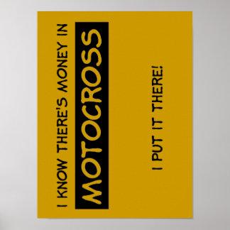 Money In Motocross Dirt Bike Poster