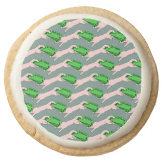 Money, In One Hand and Out The Other Round Shortbread Cookie
