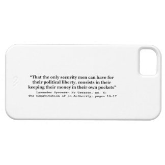 Money in the Hands of Government Lysander Spooner iPhone SE/5/5s Case