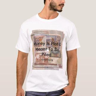 money is flat scottish t-shirt