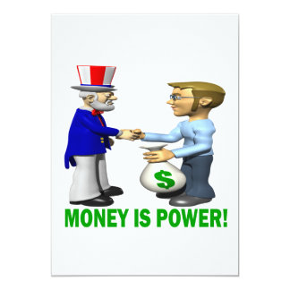 Money Is Power 5x7 Paper Invitation Card