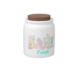 """Money Jar """"Baby Fund"""" Candy Jar"""