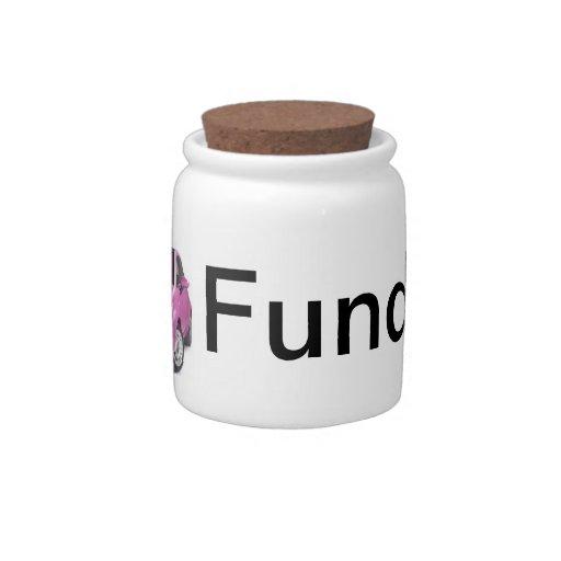 "Money Jar ""Car Fund"" For Girls Candy Jars"
