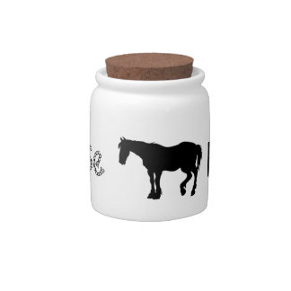 """Money Jar """"Horse Fund"""" Candy Jars"""