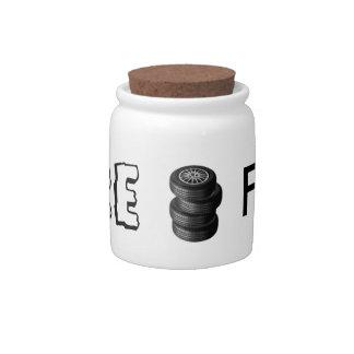 "Money Jar ""Tire Fund"" Candy Jar"