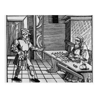 Money Lender, 1531 Postcard