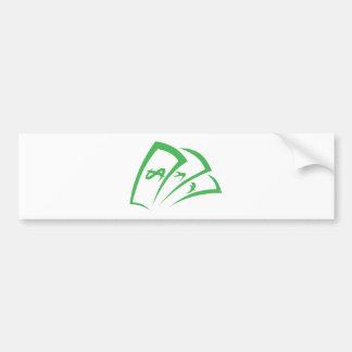 Money-lender Logo in Swish Drawing Style Bumper Sticker