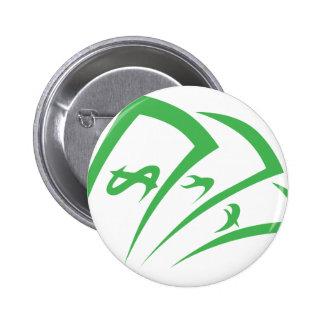 Money-lender Logo in Swish Drawing Style Pinback Button