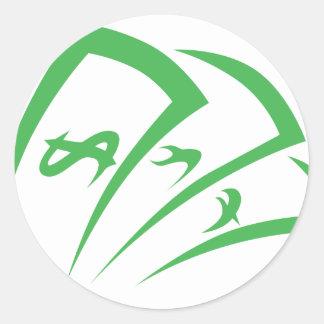 Money-lender Logo in Swish Drawing Style Classic Round Sticker