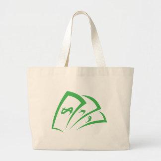 Money-lender Logo in Swish Drawing Style Large Tote Bag