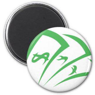 Money-lender Logo in Swish Drawing Style Magnet