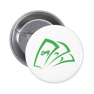 Money-lender Logo in Swish Drawing Style Pin