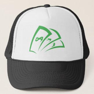 Money-lender Logo in Swish Drawing Style Trucker Hat