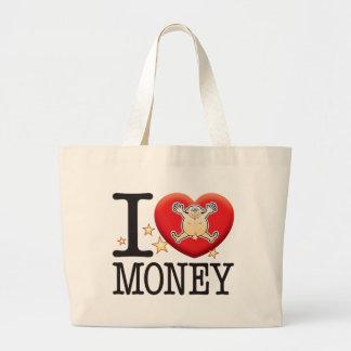 Money Love Man Jumbo Tote Bag