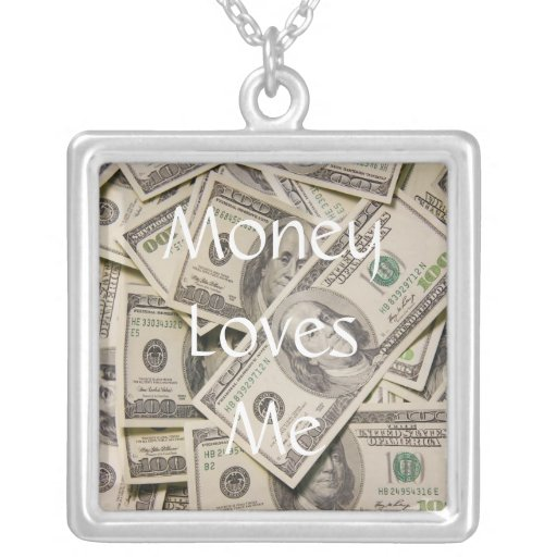 Money Loves ME Silver Necklace