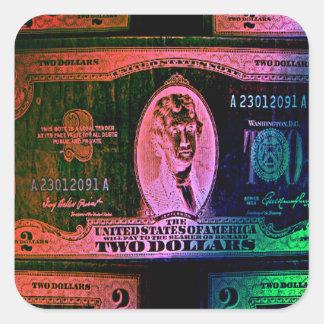 Money Madness Square Sticker