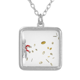 Money Magnet Silver Plated Necklace