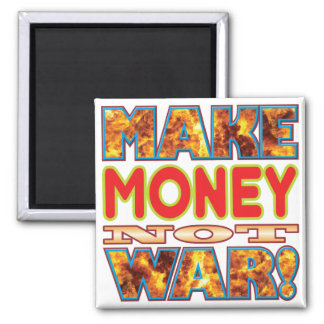 Money Make X 2 Inch Square Magnet