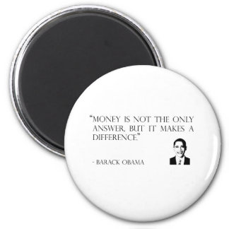 money makes a difference fridge magnet