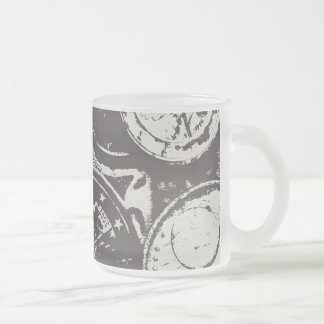 Money makes the world go round frosted glass coffee mug