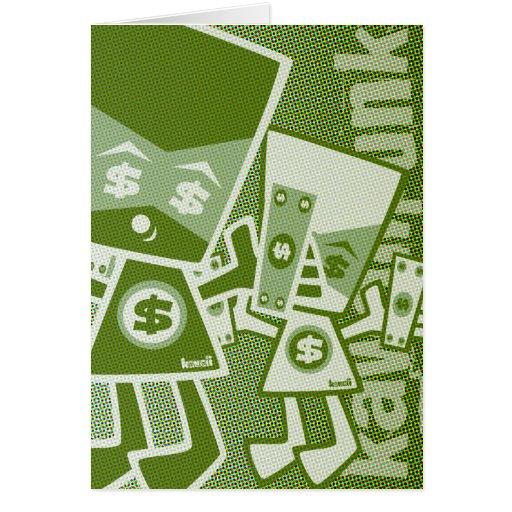 Money Mascot Greeting Cards