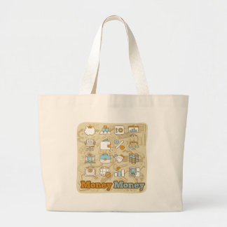 Money Money Large Tote Bag