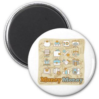 Money Money 2 Inch Round Magnet