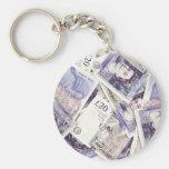 Money, money, money...in a rich man's world key chain