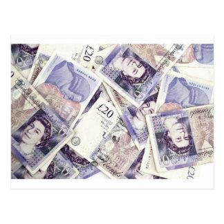 Money, money, money...in a rich man's world postcard