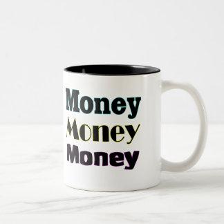 money money money Two-Tone coffee mug