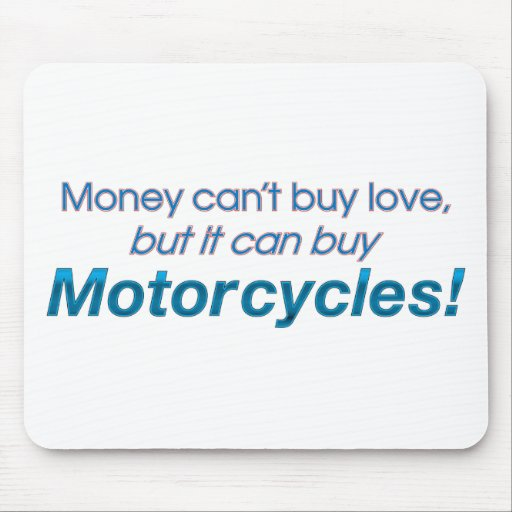 Money & Motorcycles Mouse Pad
