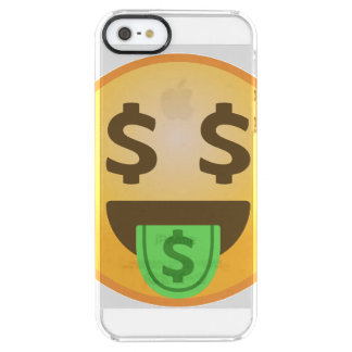 Money Mouth Emoji Clear iPhone SE/5/5s Case