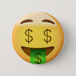 Money-Mouth Face Emoji Button
