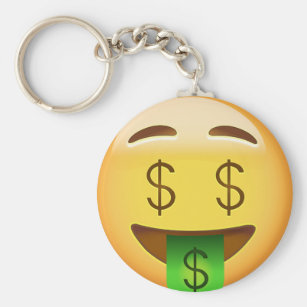 Money Mouth Face Emoji Keychain