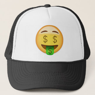 Money-Mouth Face Emoji Trucker Hat