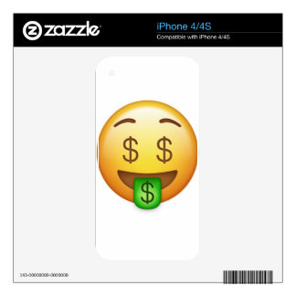 Money Mouth Hilarious Emoji Decal For The iPhone 4