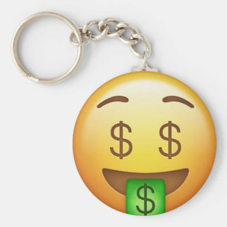 Money Mouth Hilarious Emoji Keychain