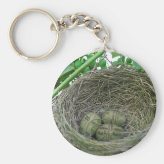 Money Nest Eggs Basic Round Button Keychain