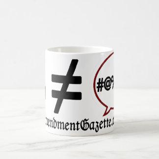 Money not equal to speech mug